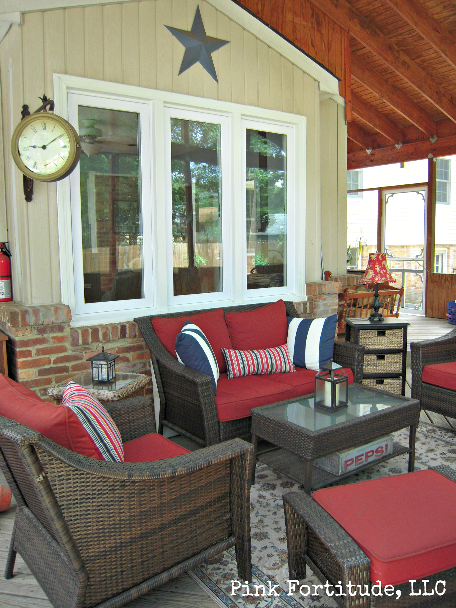 Relaxing Porch Oasis Pink Fortitude Llc