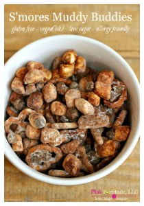 S'Mores Muddy Buddies – Gluten Free, Vegan & Allergy Friendly