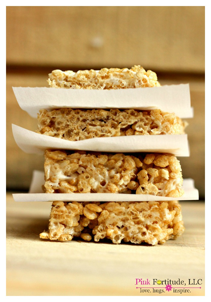 Rice Krispies Treats that are gluten free and vegan? Surely you jest! Do they really exist? Yes, my friends, it IS possible! All you have to do is believe... and know how to substitute your favorites with your new favorites. So whether you call them Rice Krispy Treats, Rice Krispies Treats, or Rice Crispy Treats, you will never know the difference with this gluten free and vegan version.
