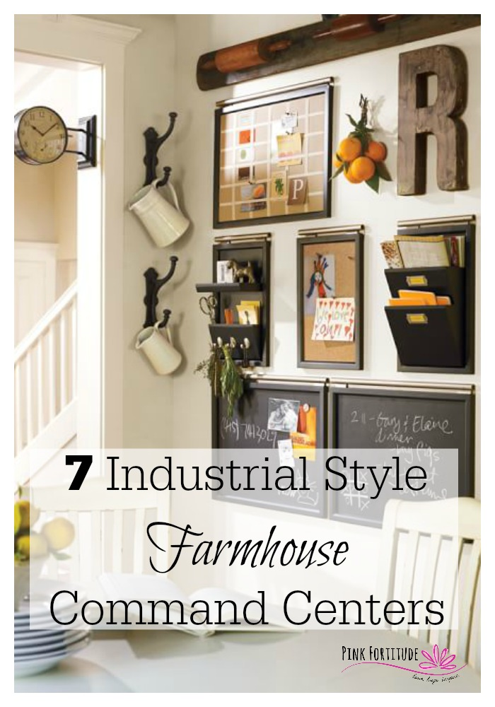 7 Industrial Style Farmhouse Command Centers  Pink