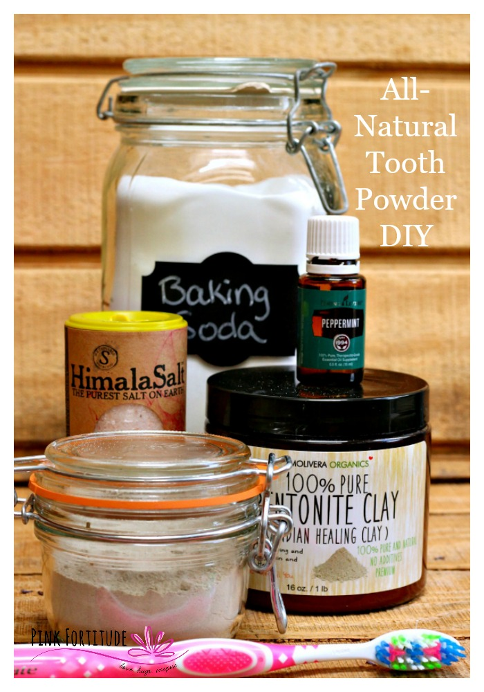All-natural tooth powder is an excellent alternative to traditional toothpaste. I know you would never want to give up that blue tube of joy and happiness, but if you are looking to eliminate toxins in your oral health care, this tooth powder is easy to make and tastes great too!
