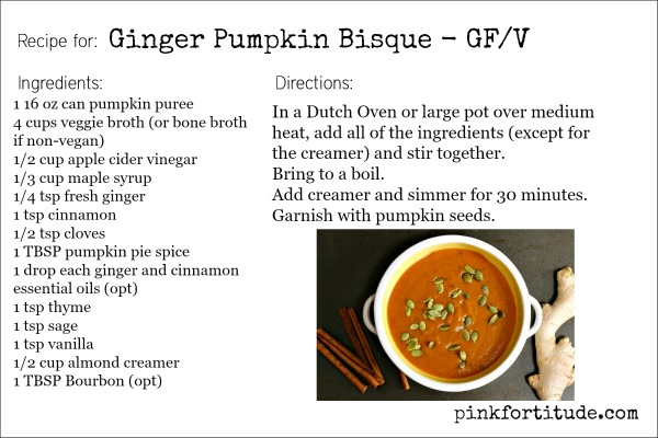 Ginger Pumpkin Bisque Recipe
