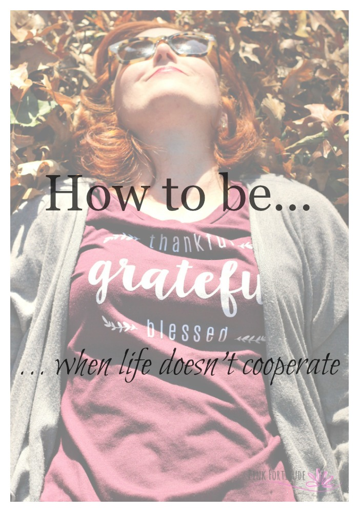 It's that time of year where we think about how thankful we are, how grateful we are, and how blessed we are. When life is good, it's easy to be thankful grateful blessed. But what happens when life hands you a tragedy? How easy is it to count your blessings then?