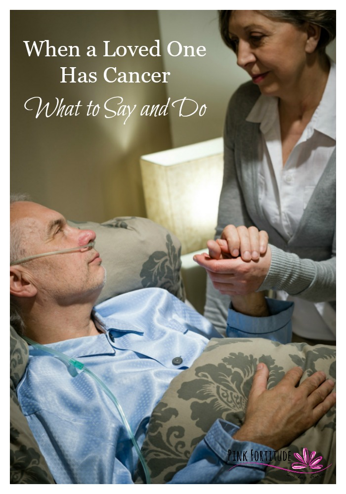 """Hi [insert name]. I wanted to let you know I have some bad news. I have cancer."" From this point on... it seems like everything changes with your relationship when your loved one has cancer. But it shouldn't. What do I say? What do I do? How can I help?"