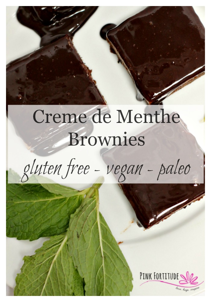 Have you ever had a food that takes you back to a fond memory? To a tradition? To a family? Creme de menthe brownies are one of those foods for me. For those of you who want to eat healthier, or need a version that is gluten free, vegan, and/or paleo, these brownies will be a proven winner for your holiday entertaining.