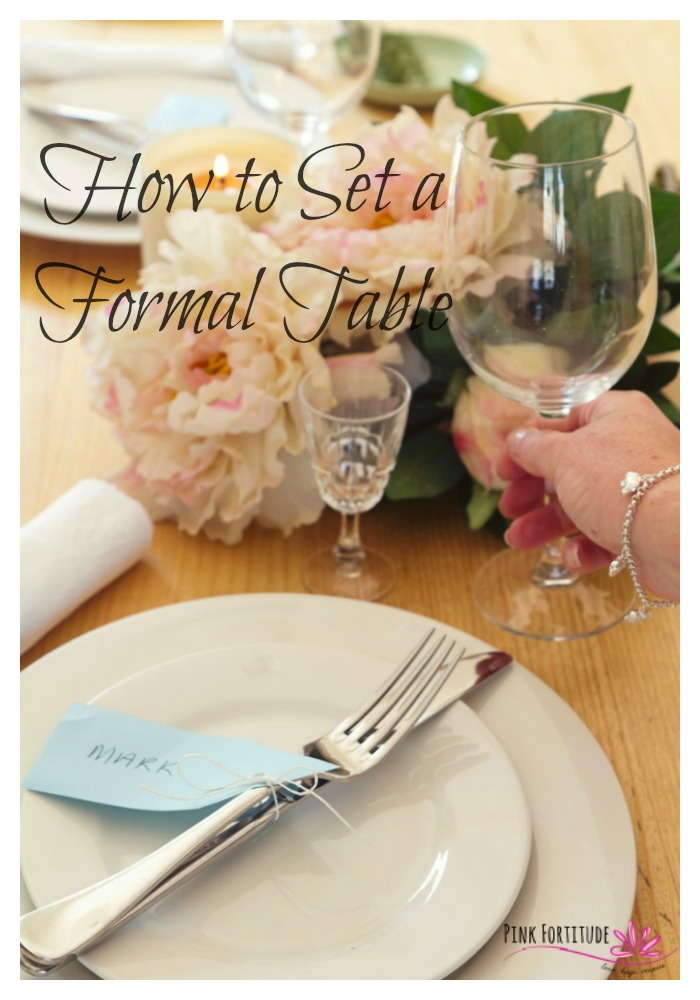 Itu0027s that time of year where we venture into the dining room and stare at an & How to Set a Formal Table - Pink Fortitude LLC