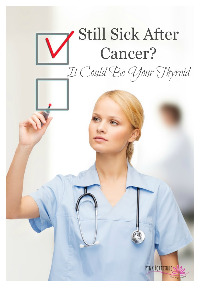 There are so many cancer survivors who I've spoken with over the years who are still sick after treatment. My heart goes out to them, because I am one of them. This comprehensive list of side effects from cancer treatment combined with symptoms of thyroid problems will help you to connect the dots if you aren't recovering properly. Getting to the root cause is priceless. I know what you are going through. Here are your first steps. You aren't alone in this journey.