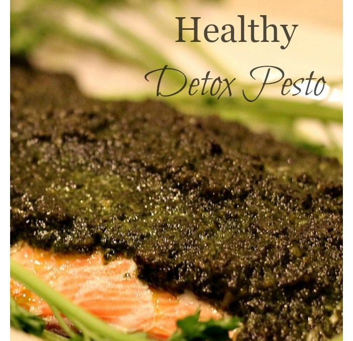 Salmon with Healthy Detox Pesto