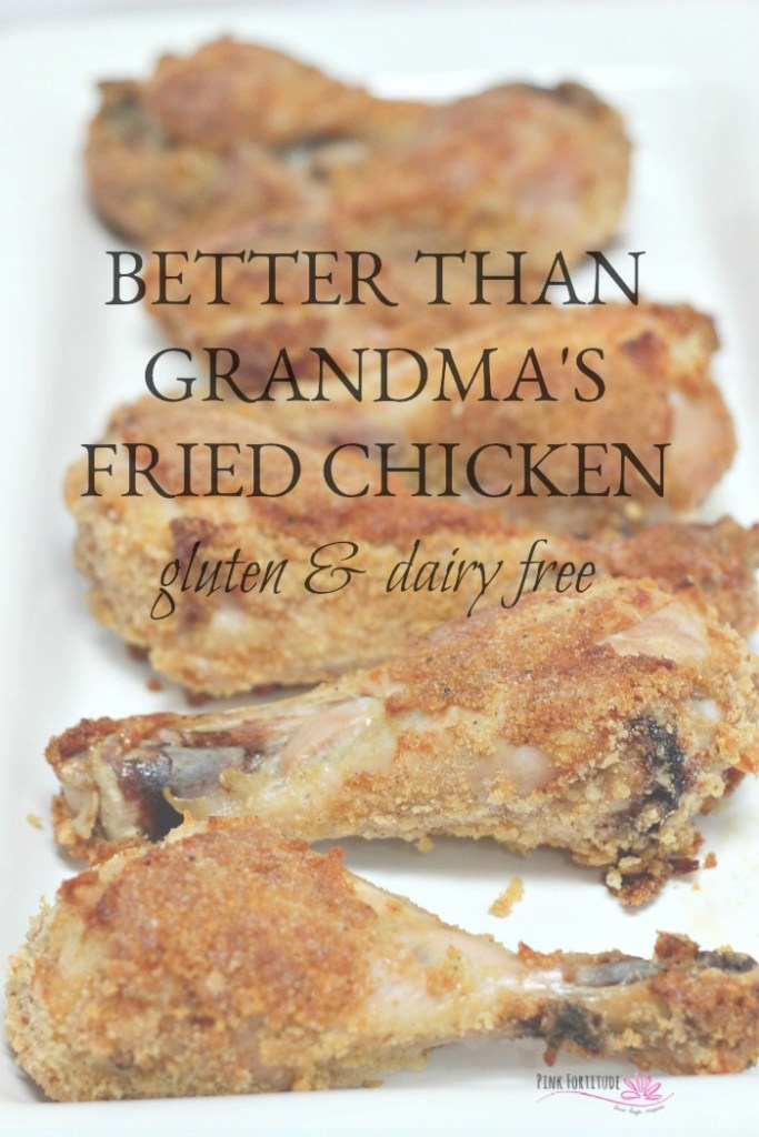 Do you have nostalgia for the old time buttermilk fried chicken? What if I told you there was a way to make it gluten free, dairy free, and much healthier for you, but it maintains that old-fashion-made-by-Grandma kinda taste. It's made in the oven and perfect for dinner with the family or to take on a picnic. You in?