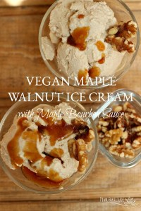 Vegan Maple Walnut Ice Cream with Maple Bourbon Sauce