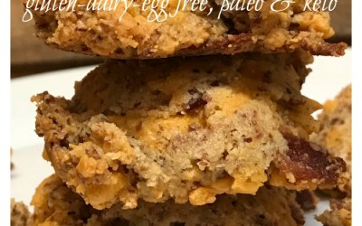 Cheddar Bacon Biscuits – Gluten, Dairy, Egg Free, Paleo and Keto