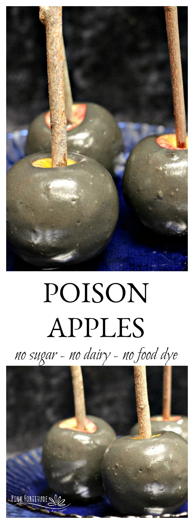 Poison apples are a fun Halloween food to have at your party. But the sugar and high fructose corn syrup and black food dye? I'll take my apple without all of the poison, thank you! If you want to make an all-natural treat worthy of the best Halloween party, here's how...