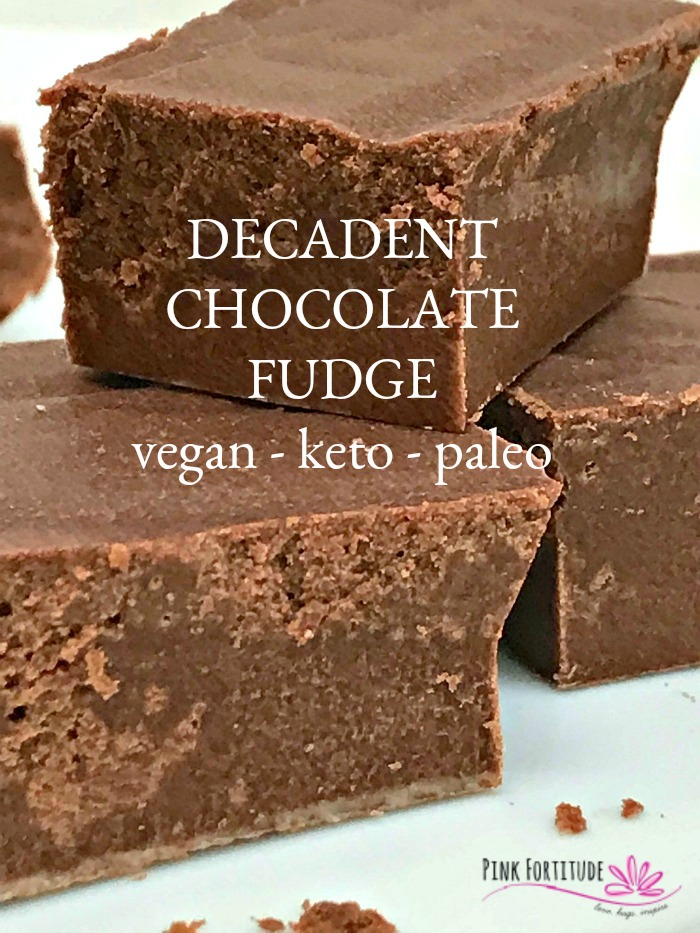 "Fudge for breakfast? Hear me out! This chocolate fudge is vegan, keto, paleo, and also made ""bulletproof"" to help you feel full and wake up your brain. So go ahead, make some for your holiday guests, hide some for yourself, and enjoy it any time of the day. Breakfast included. PS - it's super quick and easy to make! Your secret is safe with me."