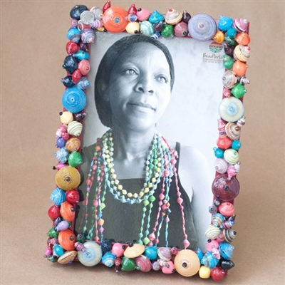 Beaded Colorful Photo Frame - Bead For Life