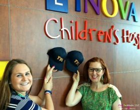 Hat Donation at the Children's Hospital