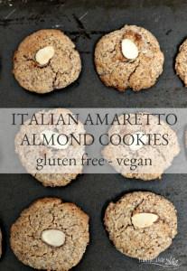 Italian Amaretto Almond Cookies – Gluten Free & Vegan