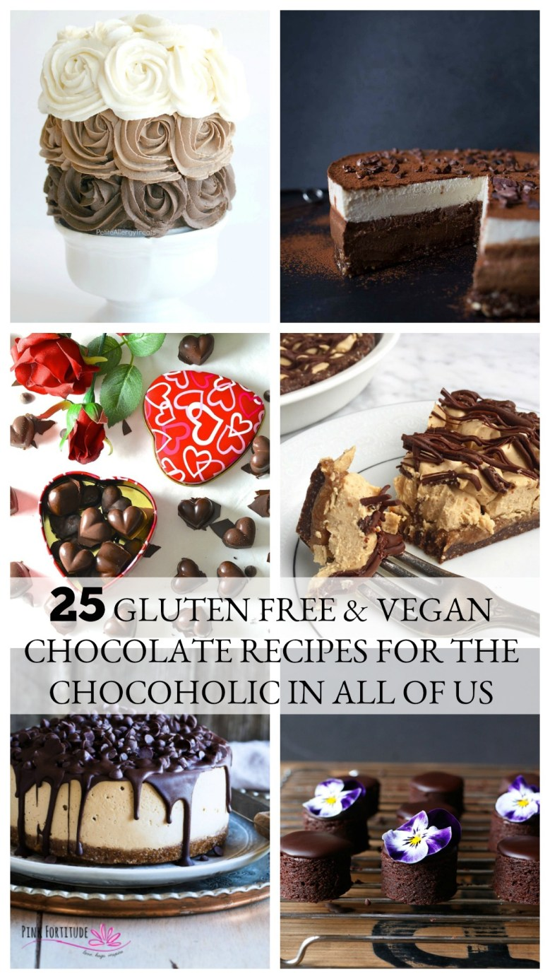 Whether it's for Valentine's Day, a special occasion, or pretty much any day, chocolate makes the day better. These 25 recipes are gluten free and/or vegan and are sure to bring out the chocoholic in all of us!