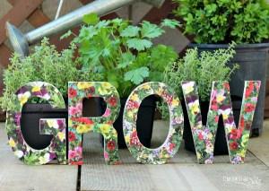 Grow Garden Sign DIY
