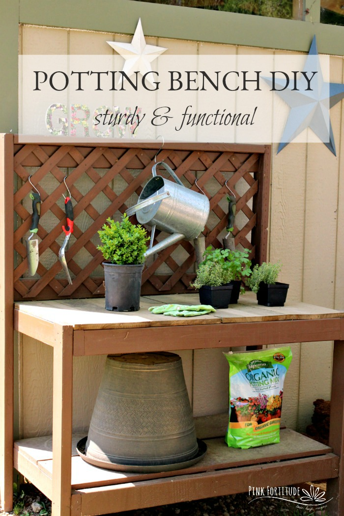 A potting bench is a must-have for any serious gardener. We had ours forever, and when it was time to replace it, Hubby decided to make another one for me himself. You need to see the end result. Seriously swoon-worthy!