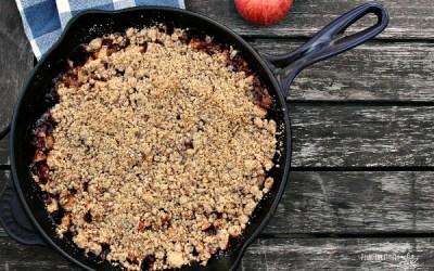 Skillet Caramel Apple Crisp – Gluten Free and Vegan