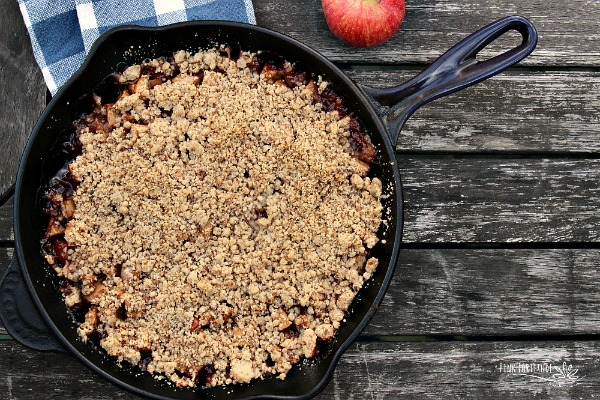 Skillet Caramel Apple Crisp – Gluten Free and Vegan