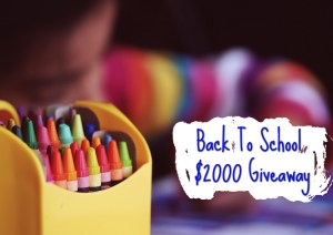 Back to School $2000 Cash Giveaway