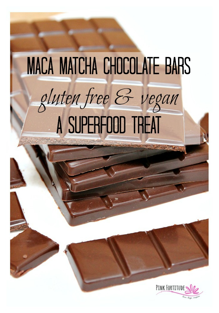 What if I told you that you can eat chocolate for breakfast (or anytime!) in a way that gives you sustained energy without the caffeine jitters... AND is full of healthy superfoods? These Maca Matcha Chocolate Bars may make you raise an eyebrow, but they are gluten free, dairy free, vegan and a superfood treat you will want to make again and again. Get the recipe here... #glutenfree #vegan #recipe #organic #chocolate