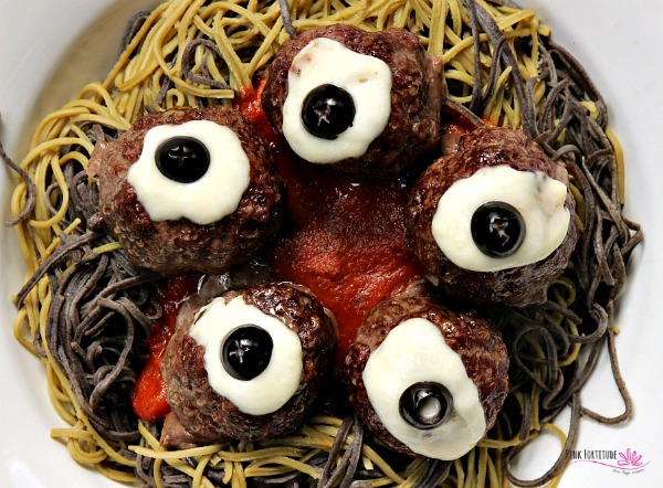 Halloween Spooky Spaghetti and Eyeball Meatballs – Gluten Free