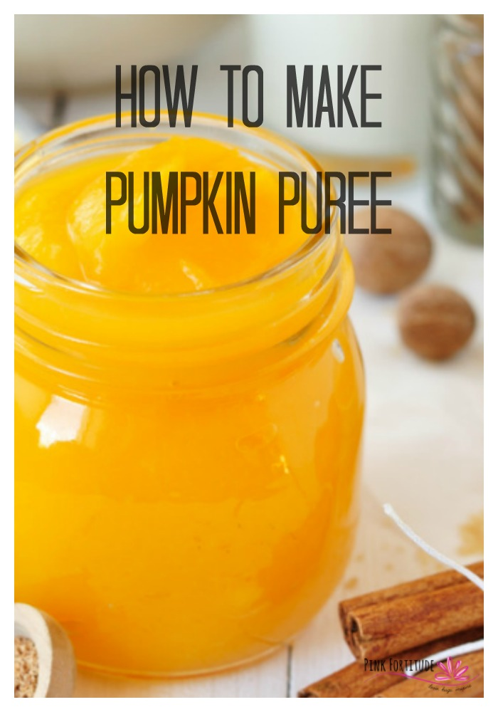 Don't let your leftover Halloween pumpkins go to waste! This is the DIY you've been waiting for - learn how to gut a pumpkin and make your own pumpkin puree. Your pumpkin pie will never be the same. #pumpkin #pumpkinspice #pumpkinpuree #recipe #pinkfortitude
