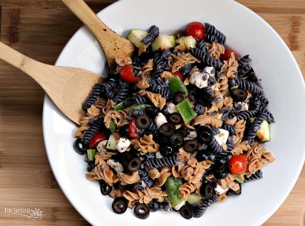 Halloween Pasta Salad – Gluten Free with Vegan Option