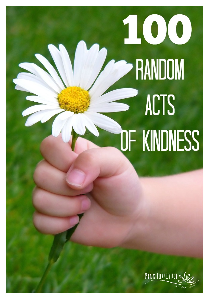 There are a million reasons why you should participate in Random Acts of Kindness. It might be for Random Acts of Kindness Day (Feb 17th), Martin Luther King Jr. Day, Earth Day, Advent, for a loved one going through a crisis, or just because. It doesn't matter. Kindness rules and should be practiced every day of the year. Here are 100 Random Acts of Kindness to get you started.