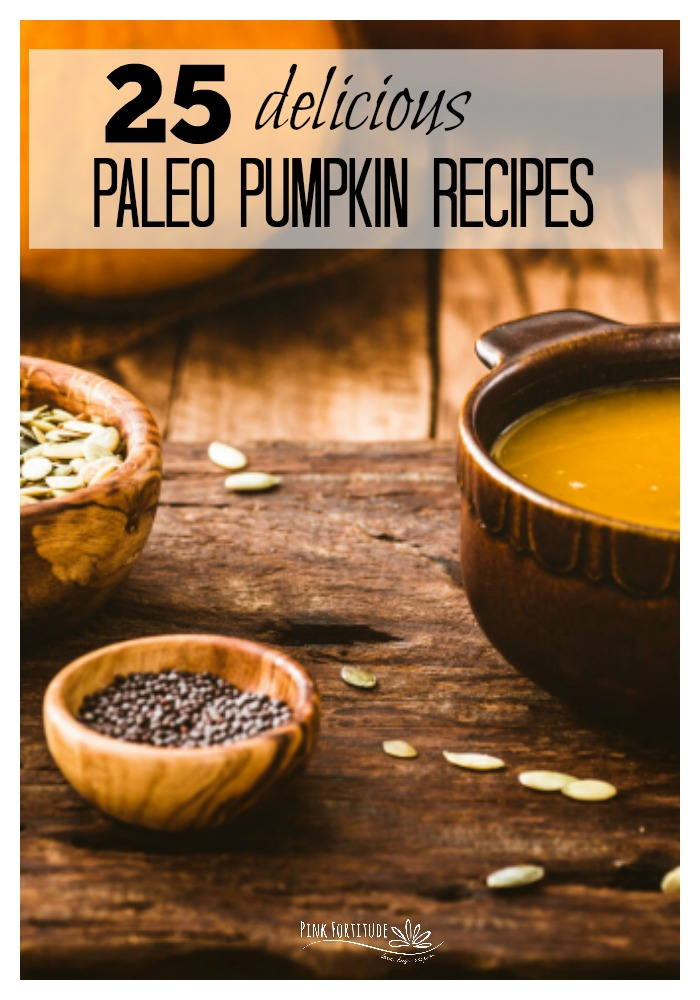 It's pumpkin season! Raise the roof! It's easy to go all pumpkin spice crazy and get totally caught up in the craze. But take a deep breath. There are healthier options out there. Be sure to check out these 25 delicious paleo pumpkin recipes. We've included paleo pumpkin breakfast, muffins, soups, main dishes, drinks, pies, and sweet treats. All of the recipes are gluten-free of course, and many are vegan, keto, and even Whole30. Hello delicious AND nutritious!