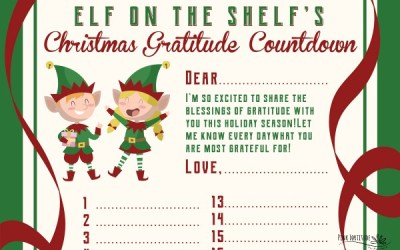 Free Elf on the Shelf Gratitude Printable