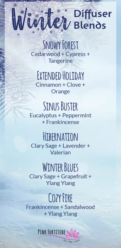 Cool winter hikes, freshly fallen snow, cozy fireplaces, warm cocoa... what are your favorite winter scents? I've compiled six of my favorite winter diffuser blends to welcome winter and keep the cozy going!