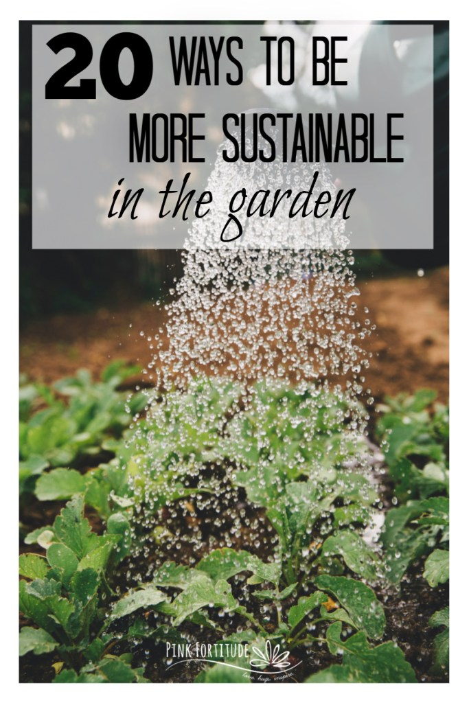 Gardening is a naturally sustainable activity. You're outside, enjoying nature, playing in the dirt, and participating in the circle of life from the earth. But there are definitely more ways to be greener in your outdoor hobby. Here are 20 ways to be more sustainable in the garden. Vegetables, flowers, composting, apothecary, and more!