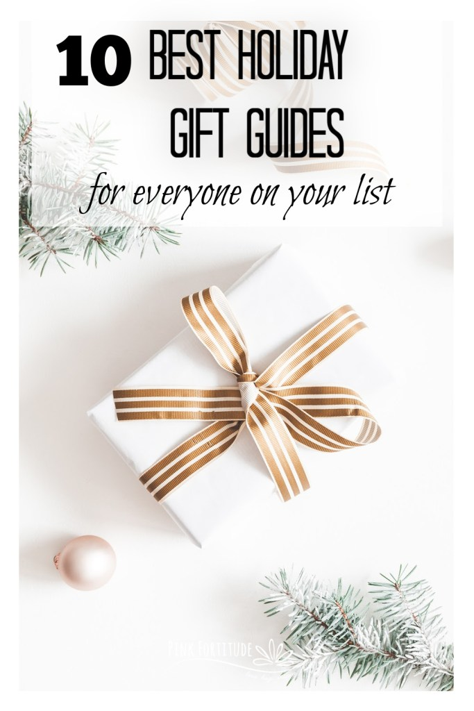 Are you looking for the most perfect, unique gift for everyone on your list, including those who are difficult to buy for? These 10+ holiday gift guides cover gifts for women, those with chronic illness, gardeners, dogs and dog moms, wines, DIY gifts, kitchen items, subscription boxes, teachers, hostess gifts, and more! It's perfect for everyone on your Christmas, Hanukkah, and holiday list!