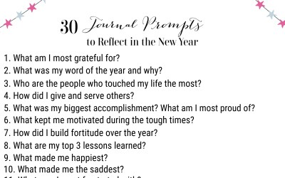 30 Journal Prompts to Reflect in the New Year