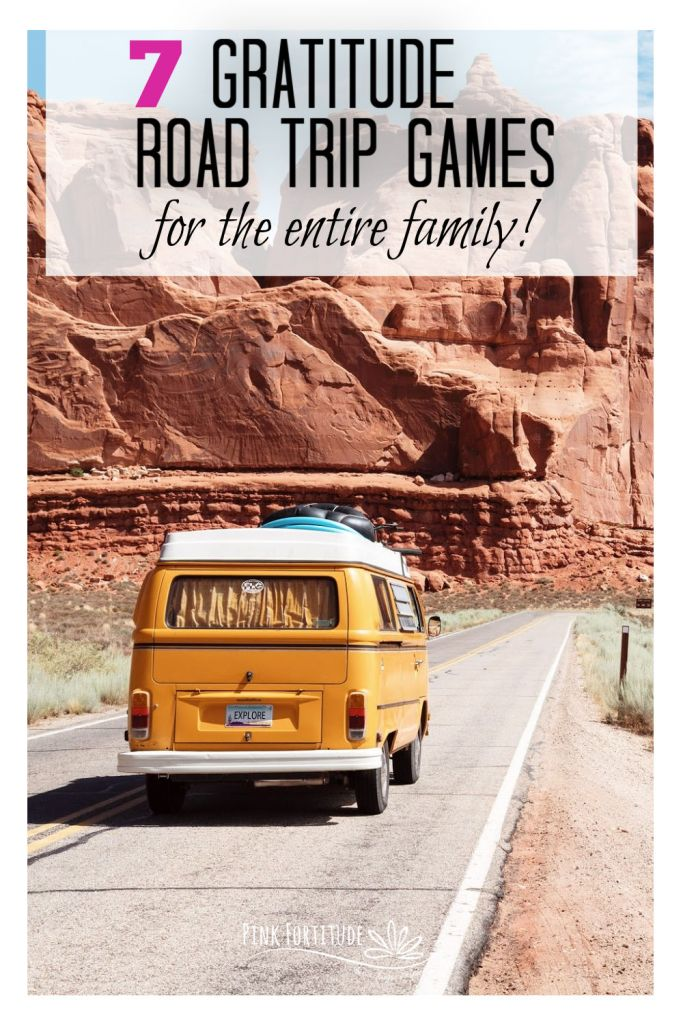 Are we there yet? It's the summer anthem of the road trip. Mix it up and this year, and focus on the power of gratitude during your drive. I've got 7 gratitude road trip games that can be played with the entire family, and are a great way to teach kids the amazing power of gratitude. Let's have some fun!