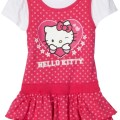 Pink hello kitty girls knit dress with polka dots pink shoes pink