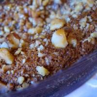 עוגה חגיגית של סילאן {דבש תמרים} ואגוזים