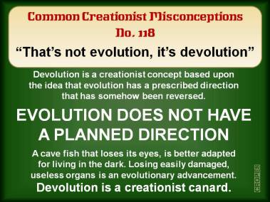 That's not evolution, it's devolution.
