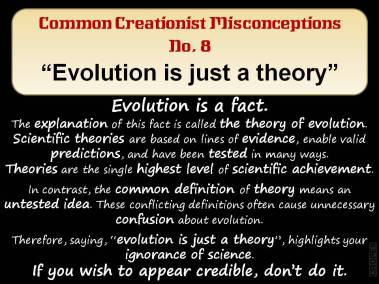 Evolution is just a theory.