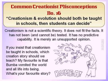 Creationism and evolution should both be taught in schools, then students can decide.
