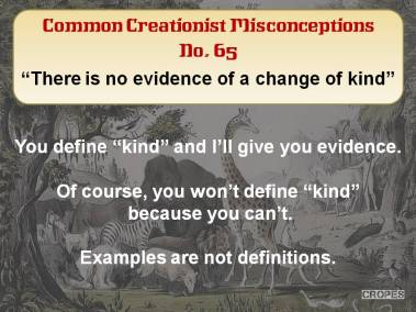 There is no evidence of a change of kind.