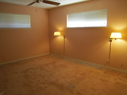 master bedroom - a thick layer of dust in the carpet around where furniture had been