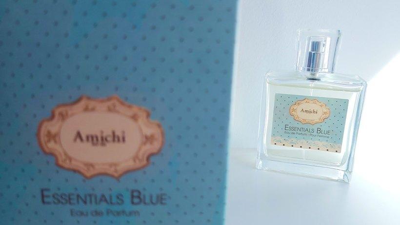 Packaging perfume Amichi Essentials detalle