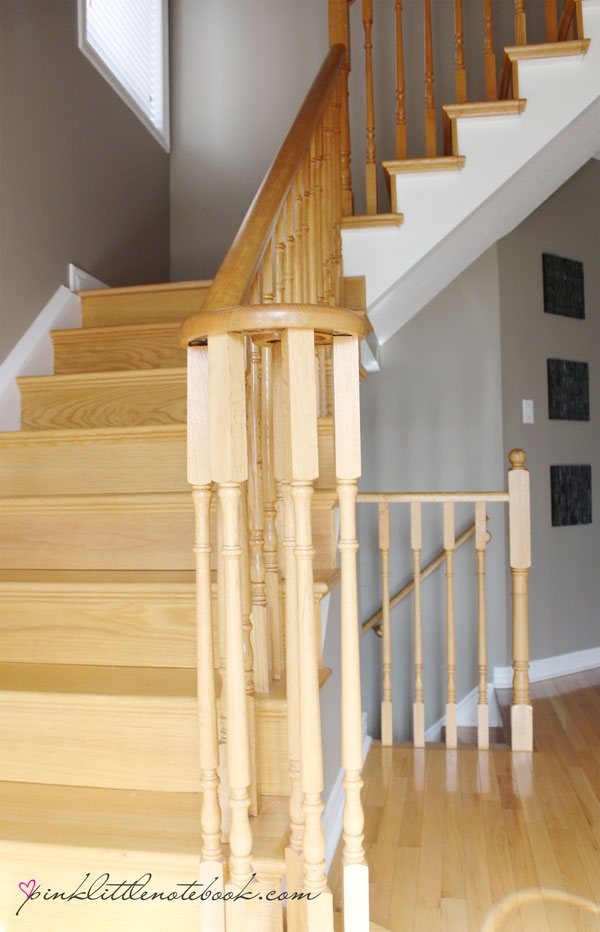 Painting A Stair Riser In 10 Seconds Or Less A Must Have Tool | Hardwood Steps And Risers | Gray Painted | Cherry Wood | Hardwood Floor | Timber | White