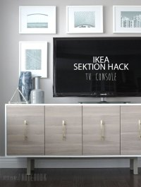 IKEA SEKTION Hack: TV Console - Pink Little NotebookPink ...