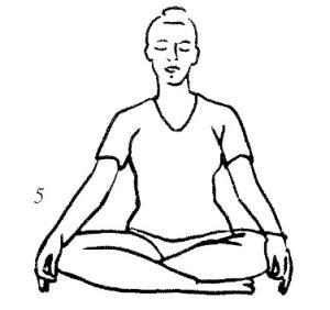 yoga easy pose circulation meditation pinklotus mudra glands meditative kundalini mind yogi knees gyan sit minutes hands