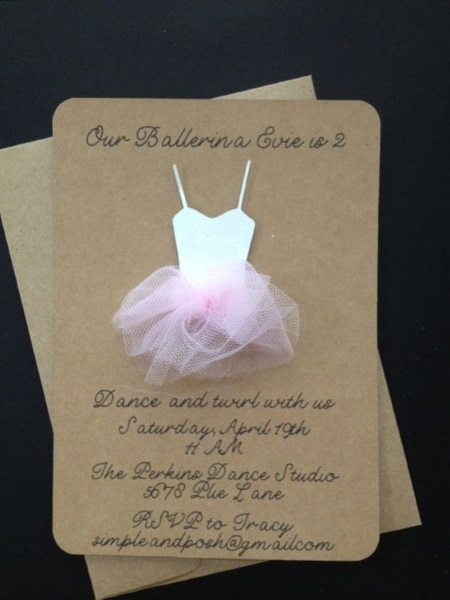 Printable Ballerina Birthday Party Supplies